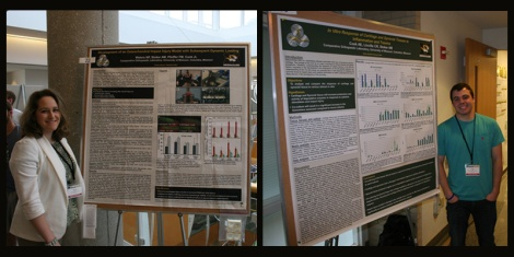Nicole Waters and Alex Cook at Life Sciences Week Poster Session