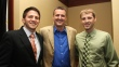 COL award winners Joey Garrity and Ben Yarnall with Dr. Cook
